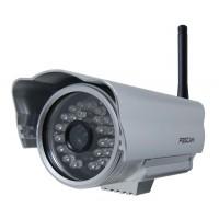 Foscam FI8904W - Netzwerkkamera - Außenbereich - wetterfest - Farbe ( Tag&Nacht ) - feste Brennweite - drahtlos - 10/100, 802.11b, 802.11g - Gleichstrom 5 V