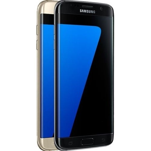 Samsung Galaxy S7 EDGE Smartphone - 32GB - Schwarz/Gold Handy