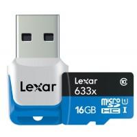 microSDHC UHS-I 16 GB 633x (Class 10) - Speicherkarte + Mini-USB 3.0-Stick